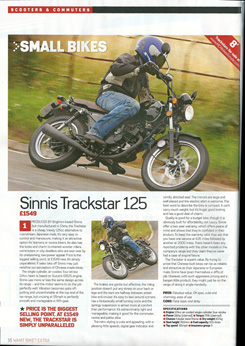 MCN review of the Sinnis Trackstar